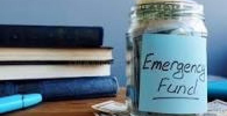 emergency fund jar of money