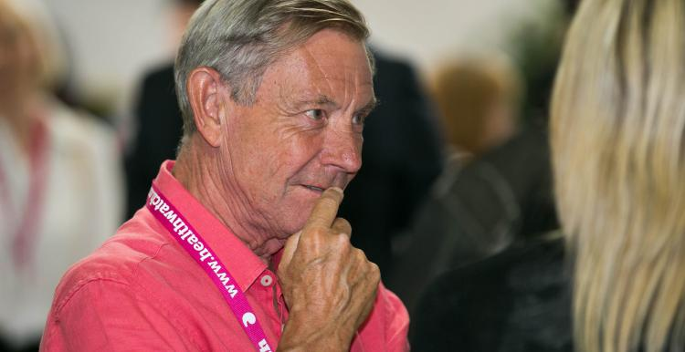 Healthwatch staff member at a conference