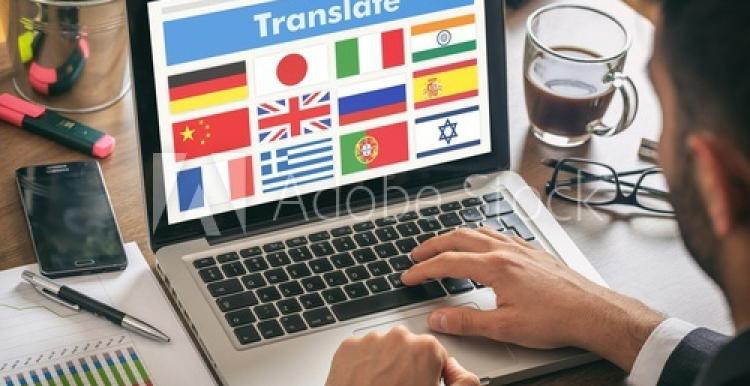 keyboard image with translate as text