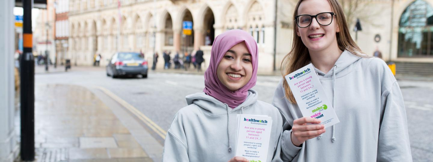 Two young volunteers